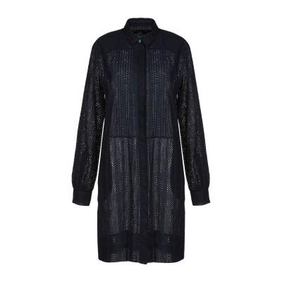 PS PAUL SMITH ミニワンピース&ドレス ダークブルー 42 コットン 100% ミニワンピース&ドレス
