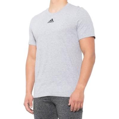 アディダス adidas メンズ Tシャツ トップス Amplifier T-Shirt - Short Sleeve Gray Heather
