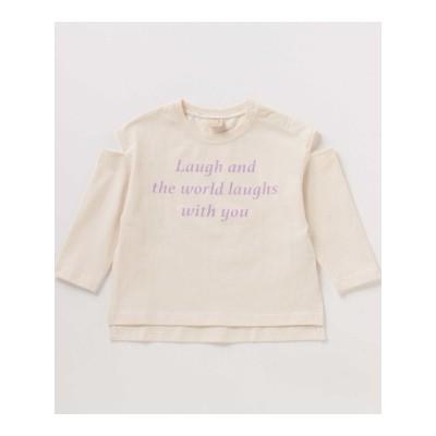 【petit main】USAコットン 袖スリットTシャツ