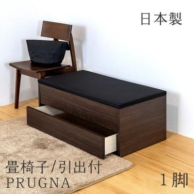 いす 畳椅子 ベンチ 畳 椅子 引き出し 収納 日本製 腰掛け椅子 ダイニングベンチ 畳椅子 畳ベンチ おしゃれ 【プルーナ 引出し 1脚 単品】