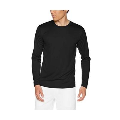 グリマー 3.5オンス インターロック ドライ 長袖 Tシャツ 00352-AIL ブラック LL (日本サイズLL相当)