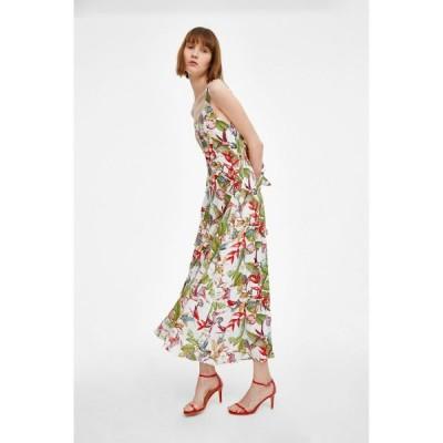 春夏 ドレス ロングドレス ワンピース ノースリーブ 花柄 カジュアル エレガント パーティ お呼ばれ