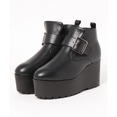 ブーツ 厚底 ウェッジヒール ショートブーツ