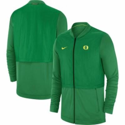 """ナイキ メンズ """"Oregon Ducks"""" Nike 2018 Sideline Hybrid Jacket ジャケット Kelly Green"""