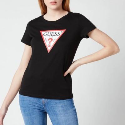ゲス Guess レディース Tシャツ トップス Short Sleeve Original T-Shirt - Jet Black Black