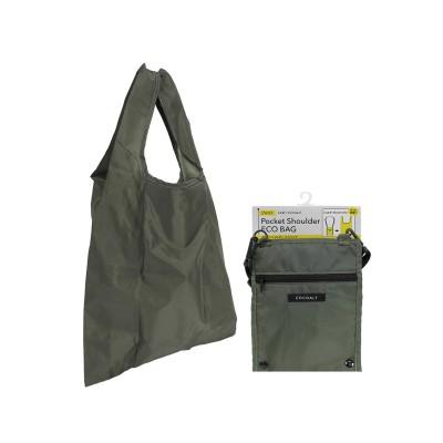洗えるポケットショルダーエコバッグ エコバッグ・買い物袋, Bags
