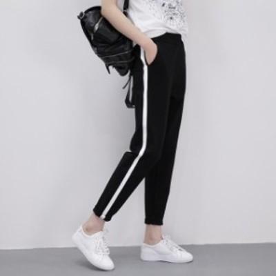 [レディース] サイドライン パンツ :ジャージ イージーパンツ スポーツ ファッション ゆったり