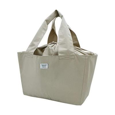 現代百貨 エコバッグ ショッピング バスケット バッグ smooth moss サンド 41×22×27.5cm