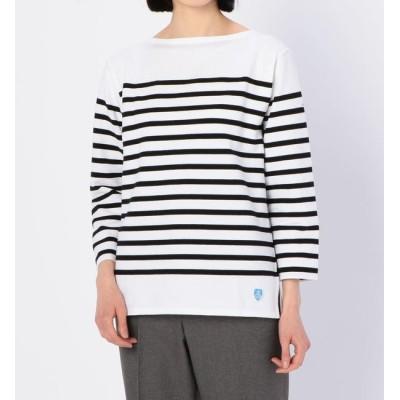 【ビショップ/Bshop】 【ORCIVAL】ラッセル フレンチセーラーTシャツ BLACK WOMEN