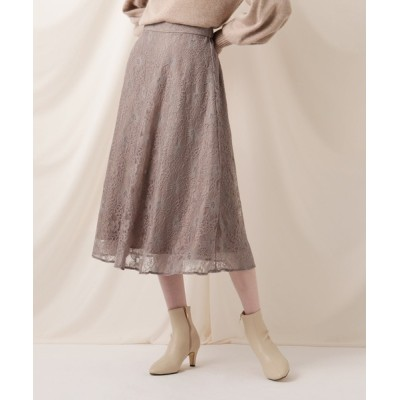 Couture brooch / 【WEB限定サイズ(LL)あり】レースフレアーミディスカート WOMEN スカート > スカート