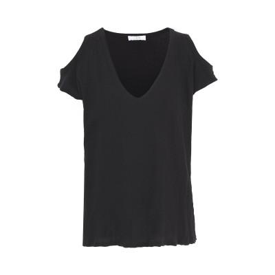 イロ IRO T シャツ ブラック XS コットン 80% / シルク 20% T シャツ