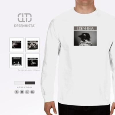 ビッグシルエット ロングTシャツ デゼニスタ 大人 ユニセックス メンズ レディース 長袖 綿100% よれない 透けない コットン ロンT 大き