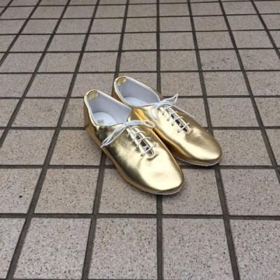 CROWN クラウン ジャズシューズ/ダンスシューズ ゴールド