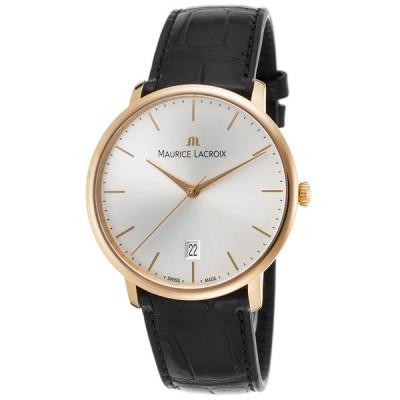 腕時計 モーリスラクロア Maurice Lacroix Les Classiques 18K Rose Gold Watch LC6007-PG101-130-BLK