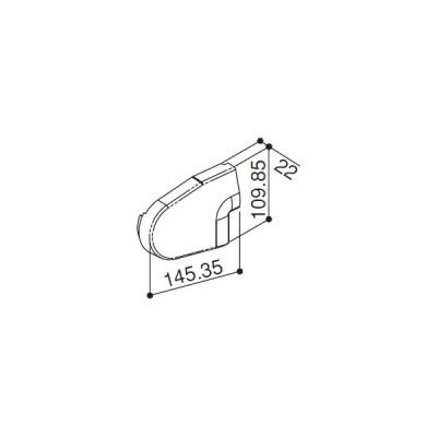 前枠コーナーキャップF型用(HH2K-31221) YKK テラス テラス屋根 アルミテラス アルミ屋根 ATC YKKテラス屋根 プリミテラス