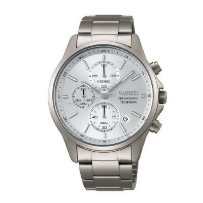 WIRED ワイアード チタンクロノグラフ AGAT427 【安心の3年保証】腕時計