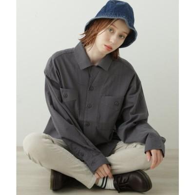 ダブルネーム DOUBLE NAME 2WAYカラーシャツ(D) (スミクロ)