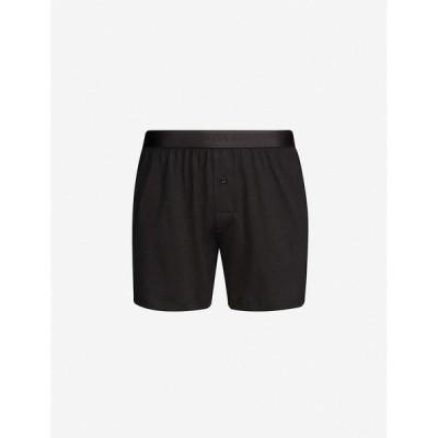 サンスペル SUNSPEL メンズ ボクサーパンツ スキニー・スリム インナー・下着 Elasticated slim-fit cotton boxers BLACK