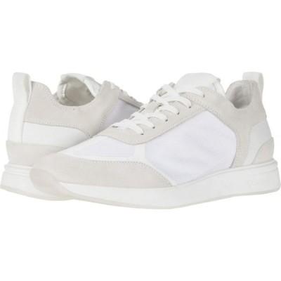 カルバンクライン Calvin Klein メンズ スニーカー シューズ・靴 Delbert White/Translucent Mesh/Silky Suede/Lycra