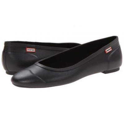 HUNTER ハンター レディース 女性用 シューズ 靴 フラット Original Tour Ballerina Black【送料無料】