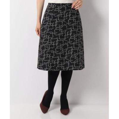 MISS J/ミス ジェイ Dutel ジャカード スカート ブラック 40