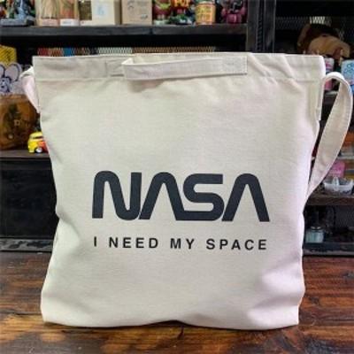 NASA 2WAY Shoulder Bag worm (ナチュラル)アメリカ航空宇宙局 アメリカ雑貨 アメ雑 アメリカン雑貨