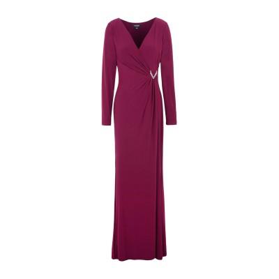 LAUREN RALPH LAUREN ロングワンピース&ドレス ボルドー 6 ポリエステル 95% / ポリウレタン 5% ロングワンピース&ドレス