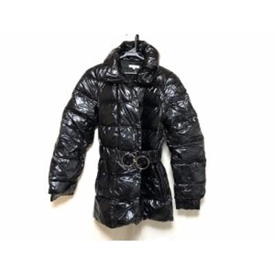 ポールカ PAULEKA ダウンコート サイズ40 M レディース 美品 - 黒 七分袖/冬【中古】20200213