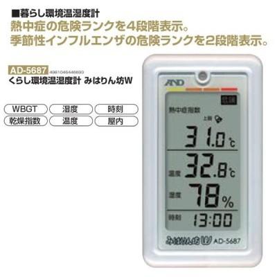 秦運動具工業 くらし環境温湿度計 みはりん坊W AD-5687 <2021CON>