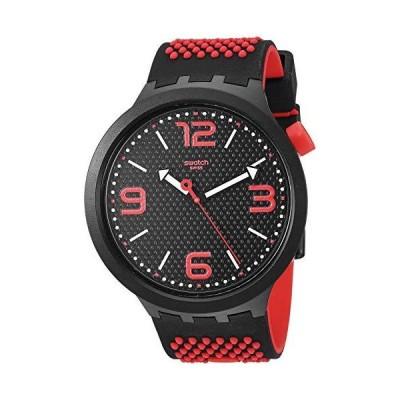 Swatch Big Bold Quartz Silicone Strap, Black, 25 Casual Watch (Model: SO27B