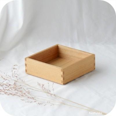 松屋漆器店   白木塗タモ[5寸]身 一段のみ【蓋なし】(ナチュラル)