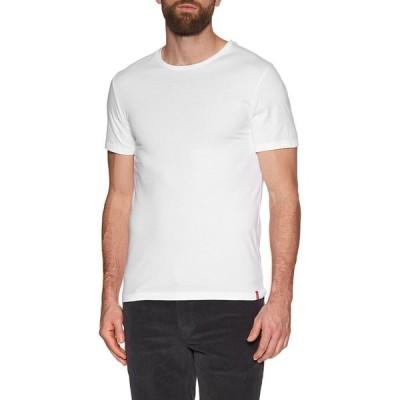 リーバイス Levi's メンズ Tシャツ 2点セット トップス slim 2pk crewneck short sleeve t-shirt Dress Blues White