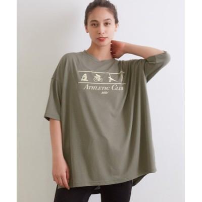 吸水速乾 ポリコットアスレチックグラフィックTシャツ