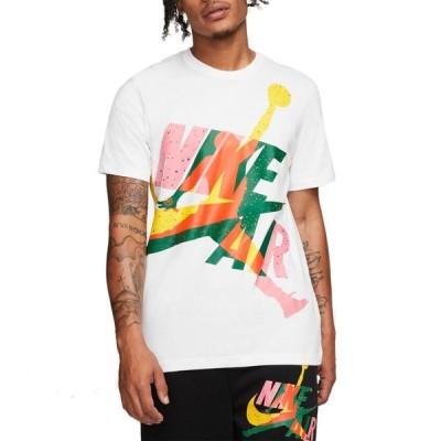 ナイキ ジョーダン Jordan メンズ Tシャツ トップス Jumpan Classics T-Shirt White/Total Orange