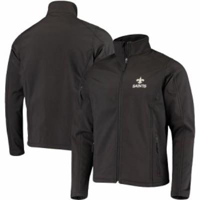 """メンズ ジャケット """"New Orleans Saints"""" Sonoma Softshell Full-Zip Jacket - Black"""