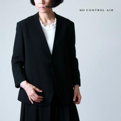 NO CONTROL AIR (ノーコントロールエアー) アセテート&ポリエステル・ライトクレープ ダブルクロス ノーカラージャケット