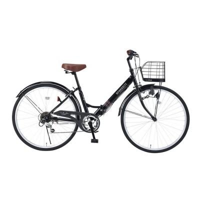 マイパラス 折りたたみ自転車 26インチ 6段変速 折畳シティ26 肉厚チューブ(ブラック) MYPALLAS APHRODITE M-507-BK 返品種別B