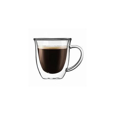 Joyjolt Srerene - 二重壁断熱ガラスコーヒーマグ 7.4ounce 2個セット