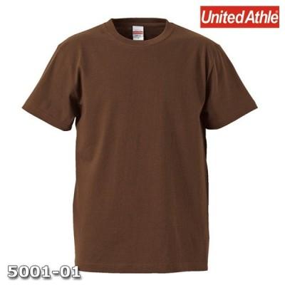 Tシャツ 半袖 メンズ ハイクオリティー 5.6oz XL サイズ D ブラウン 無地 ユナイテッドアスレ CAB