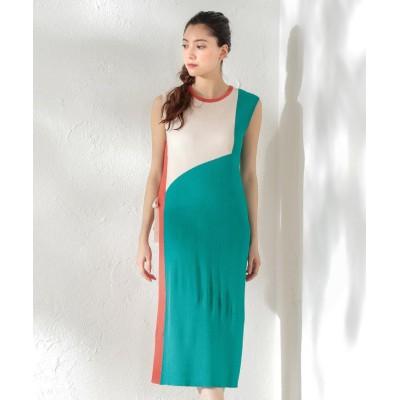 【ラブレス】 WOMEN カラーブロックニットドレス レディース カーキ 38 LOVELESS