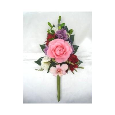 プリザーブドフラワー花お仏壇お供え雅薄紅色バラのアレンジ