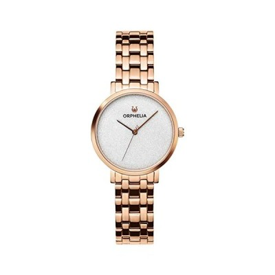 Orphelia Womens Analogue Classic Quartz Watch with Stainless Steel Strap OR12810,Rose Gold/Silver 並行輸入品