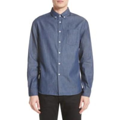 サタデイズニューヨーク メンズ シャツ トップス Crosby Denim Slim Fit Shirt INDIGO