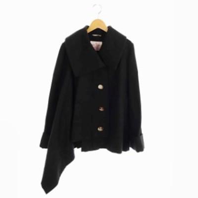 【中古】ヴィヴィアンウエストウッドレッドレーベル Vivienne Westwood RED LABEL 17AW コート 変形 ショート 黒
