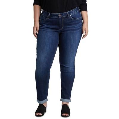 シルバー ジーンズ レディース デニムパンツ ボトムス Plus Size Boyfriend Jeans