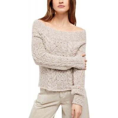 フリーピープル Free People レディース ベアトップ・チューブトップ・クロップド トップス Avalon Cropped Pullover Sweater Conch Shell
