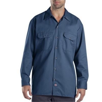 ディッキーズ シャツ トップス メンズ Dickies Men's Long Sleeve Work Shirt Navy
