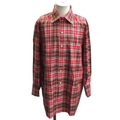 TOM FORD チェックシャツ レッド×ブラウン サイズ:42/16 1/2 (銀座店) 210303