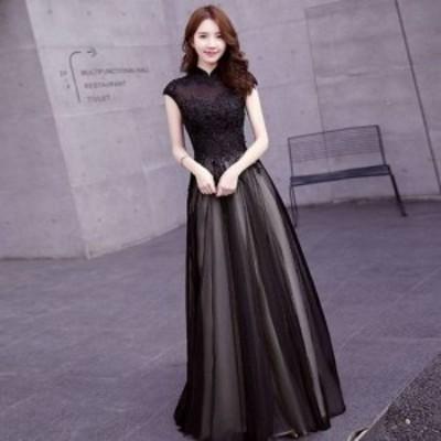 ウェディングドレス カラードレス 大きいサイズ 二次会 花嫁 ロングドレス パーティードレス ロング丈 レース 結婚式 お呼ばれ 演奏会 発