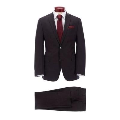ムラノ メンズ ジャケット・ブルゾン アウター Slim Fit Burgundy Fancy Wool Suit
